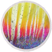 Summer Birch  Round Beach Towel