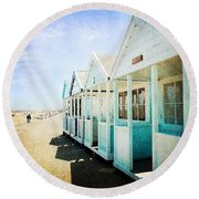 Round Beach Towel featuring the photograph Summer Breeze by Anne Kotan