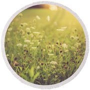 Round Beach Towel featuring the photograph Summer Breeze by Shane Holsclaw