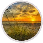 Summer Breezes Round Beach Towel