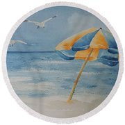 Summer Colors Round Beach Towel