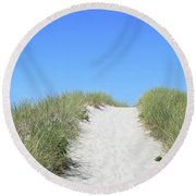 Summer Cottage Cape Cod Round Beach Towel