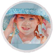 Summer Day Round Beach Towel