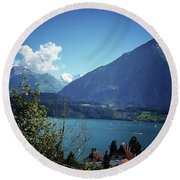 Round Beach Towel featuring the photograph Summer Day by Mimulux patricia no No