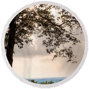 Round Beach Towel featuring the photograph Summer Days On The Horizon by Parker Cunningham