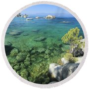 Round Beach Towel featuring the photograph Summer Days  by Sean Sarsfield