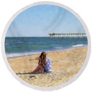 Summer Dream Round Beach Towel