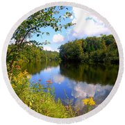 Round Beach Towel featuring the photograph Summer by Elfriede Fulda