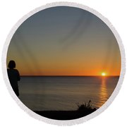 Round Beach Towel featuring the photograph Summer Evening By The Coast by Kennerth and Birgitta Kullman