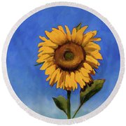Round Beach Towel featuring the painting Summer Fun by Billie Colson