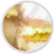 Summer I Round Beach Towel