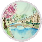 Summer In Bourton Round Beach Towel