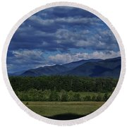 Round Beach Towel featuring the photograph Summer In Cades Cove by Douglas Stucky