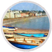 Summer In Dawlish Round Beach Towel