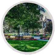 Round Beach Towel featuring the photograph Summer In Juckett Park by Kendall McKernon