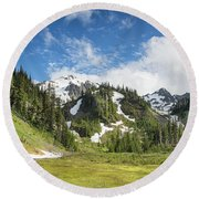 Summer In Olympic National Park Round Beach Towel