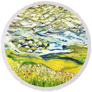 Summer In The Wild Round Beach Towel by Evelina Popilian