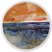 Round Beach Towel featuring the painting Summer Light by Michael Helfen