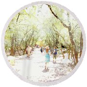 Summer Light Provence Round Beach Towel