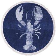 Summer Lobster- Art By Linda Woods Round Beach Towel