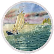 Summer Memories Round Beach Towel