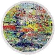 Summer Morning Round Beach Towel