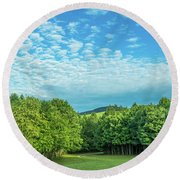 Summer Morning Round Beach Towel by Henri Irizarri