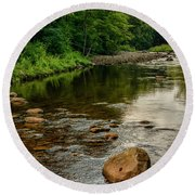 Summer Morning Williams River Round Beach Towel