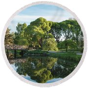 Summer Park Round Beach Towel