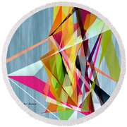 Round Beach Towel featuring the digital art Summer  by Rafael Salazar