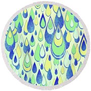 Round Beach Towel featuring the digital art Summer Rain by Zaira Dzhaubaeva