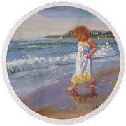 Summer Reflections Round Beach Towel
