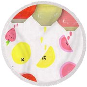 Summer Refreshment Round Beach Towel
