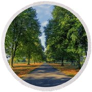 Summer Road Round Beach Towel by Ian Mitchell