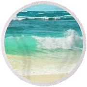Round Beach Towel featuring the photograph Summer Sea by Sharon Mau