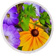 Summer Sensations Round Beach Towel
