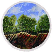 Summer Shadows Round Beach Towel by Donna Blackhall