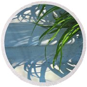 Round Beach Towel featuring the photograph Summer Shadows by Nancy Lee Moran