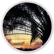 Summer Silhouette Round Beach Towel