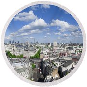 Summer Skies Over London Round Beach Towel