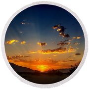 Summer Sky Round Beach Towel by Chris Tarpening