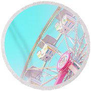 Round Beach Towel featuring the photograph Summer Sky by Cindy Garber Iverson
