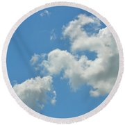 Summer Sky Round Beach Towel