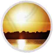 Summer Solstice Round Beach Towel