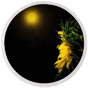 Round Beach Towel featuring the photograph Summer Solstice Flower 2016 by Angela J Wright
