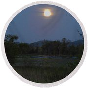 Summer Solstice Full Moon Round Beach Towel