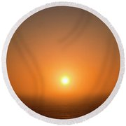 Summer Solstice Round Beach Towel by Michael Rock