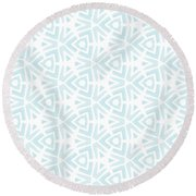 Summer Splash- Pattern Art By Linda Woods Round Beach Towel