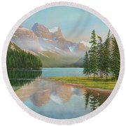 Summer Stillness Round Beach Towel