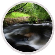 Round Beach Towel featuring the photograph Summer Stream by Tim Nichols